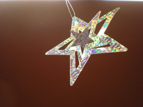 shiny silver star