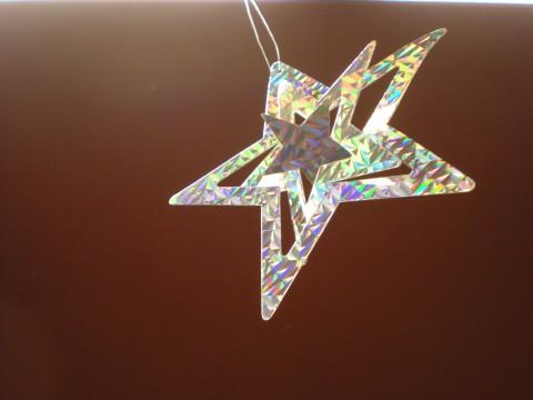 shiny silver star