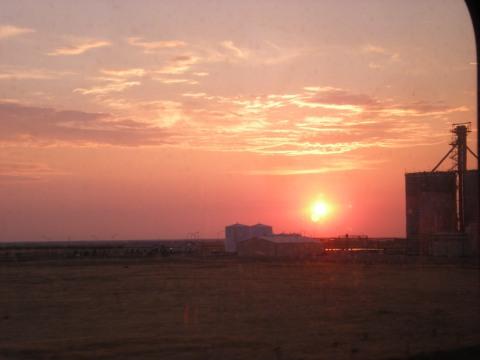 sunrise over Yuma, CO