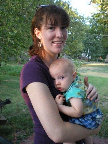 M holding nephew