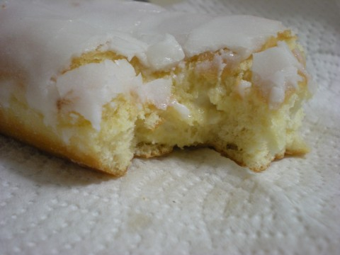 donut bitten to reveal filling