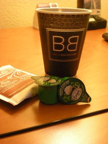 hot cocoa/coffee