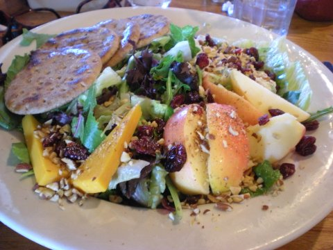 Cracker Barrel lunch (chicken salad salad)
