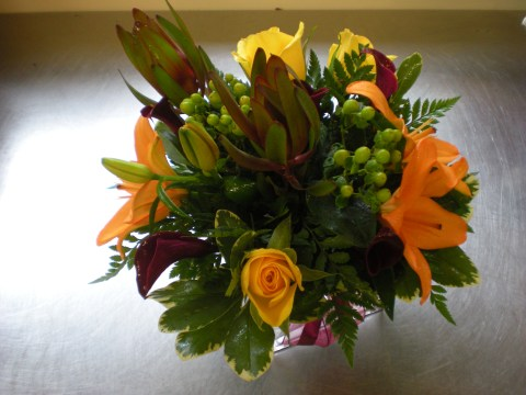 top view of previous arrangement
