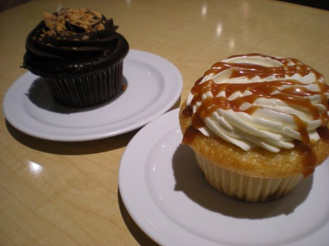 caramel buttercream cupcake