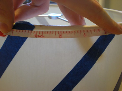 measuring space between tape pieces