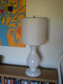 post-swap: living room lamp with narrow drum shade