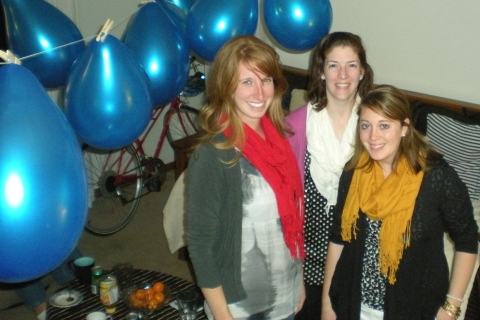 N, J, & me with balloons