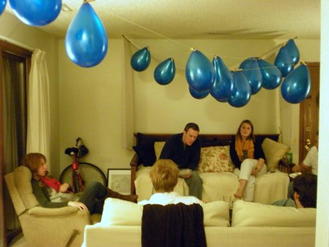 balloons plus friends (to the power of gyros) equals party