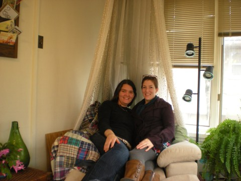 us two in the comfy chair