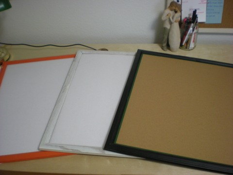 empty frames with cardboard backing
