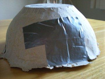 mending the crack {paper mache bowl project} (1)
