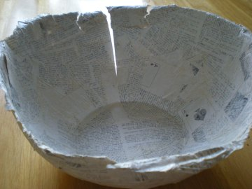 mending the crack {paper mache bowl project} (2)
