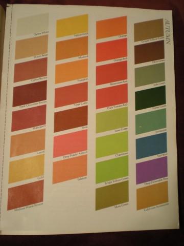 autumn colors (Color Me Beautiful)