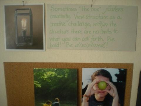creativity within confinement