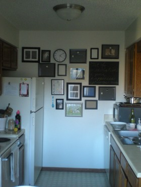 kitchen gallery wall, first instance