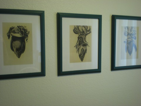 closer view of the art