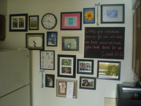 gallery wall completed 3.5.13 , (4)