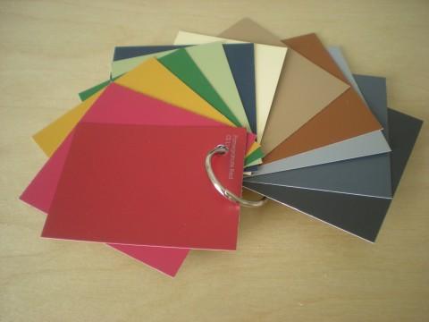 paint-chip fashion color swatches a la Color Me Beautiful