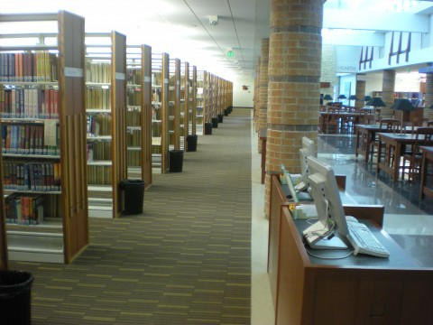 mystery, fiction, nonfiction stacks