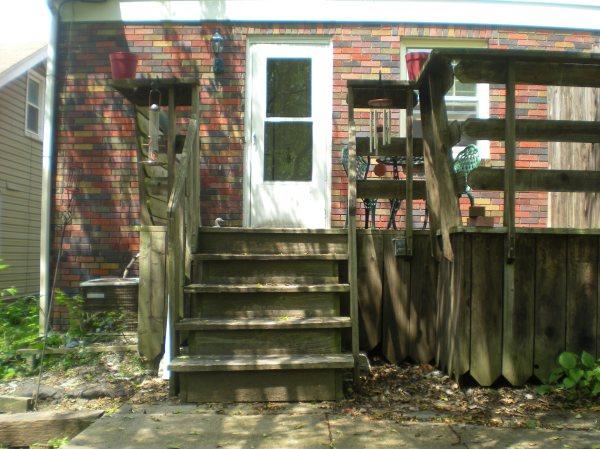 deck and kitchen door