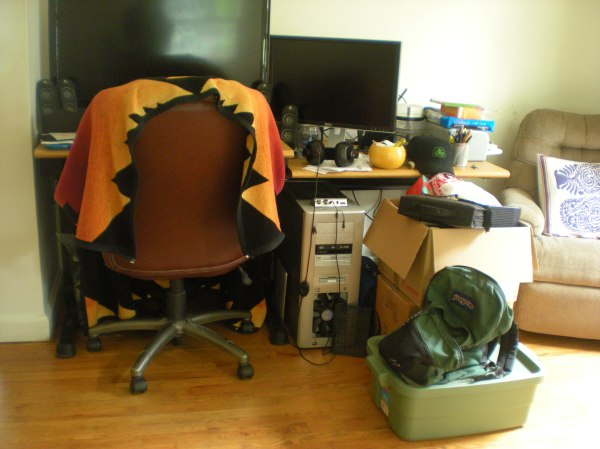 Lovey's desk area