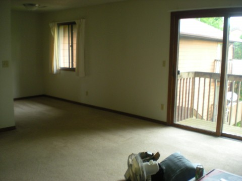 empty living & dining rooms