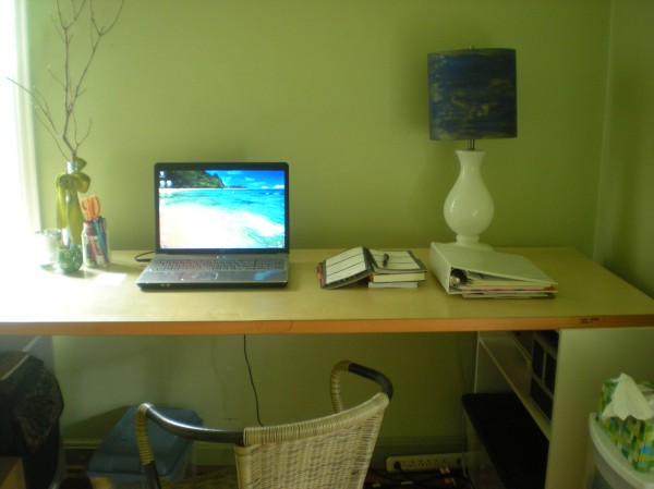 desk in the office