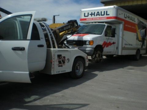 UHaul being towed...first time